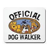 Dog walker Mouse Pads