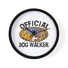 Official Dog Walker Wall Clock