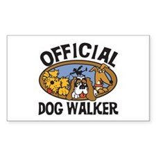 Official Dog Walker Rectangle Decal