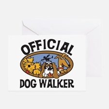 Official Dog Walker Greeting Card