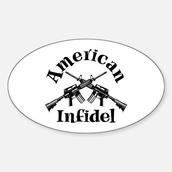 American Infidel Oval Decal