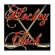 Hockey Chick Tile Coaster