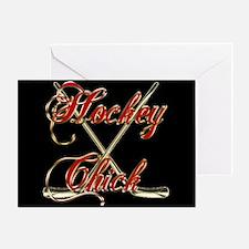 Hockey Chick Greeting Card