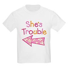 ShesTroubleGirl_Left T-Shirt
