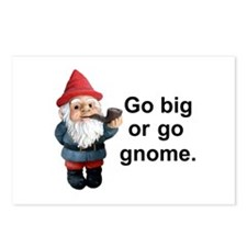 Go big or go gnome Postcards (Package of 8)