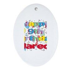Jared's 9th Birthday Oval Ornament