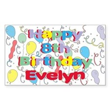 Evelyn's 8th Birthday Rectangle Decal