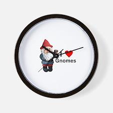 I Love Gnomes Wall Clock