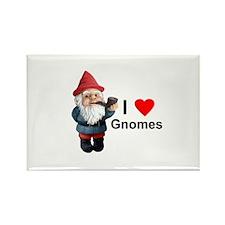 I Love Gnomes Rectangle Magnet (10 pack)