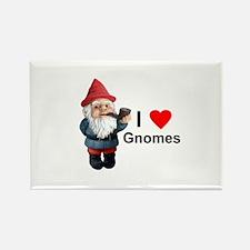 I Love Gnomes Rectangle Magnet