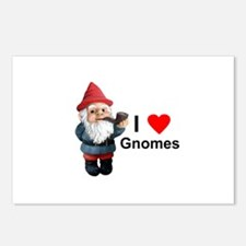 I Love Gnomes Postcards (Package of 8)