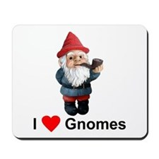 I Love Gnomes Mousepad