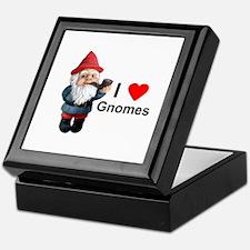 I Love Gnomes Keepsake Box
