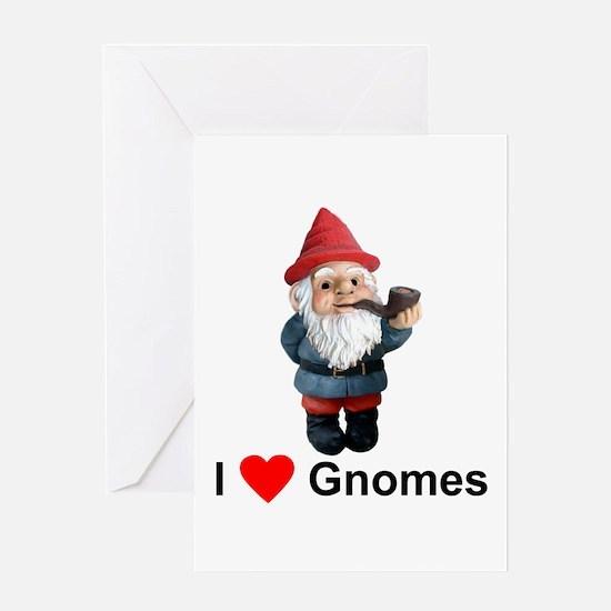 I Love Gnomes Greeting Card