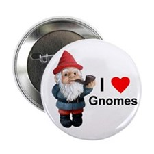 """I Love Gnomes 2.25"""" Button (10 pack)"""