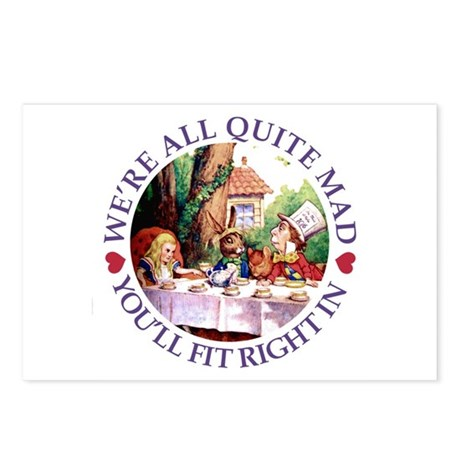 WE'RE ALL QUITE MAD Postcards (Package of 8)