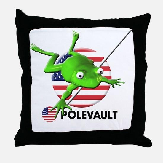 polevault Throw Pillow