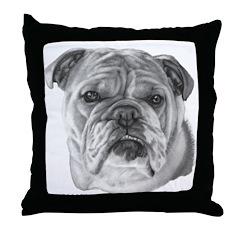 Allie, English Bulldog Throw Pillow