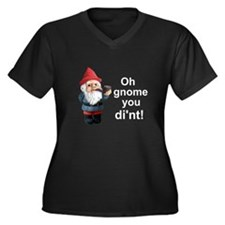 Oh gnome you di'nt! Women's Plus Size V-Neck Dark