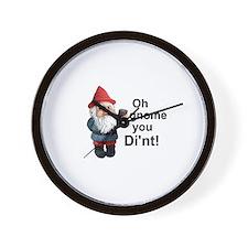 Oh gnome you di'nt! Wall Clock