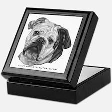 Nikki, English Bulldog Keepsake Box