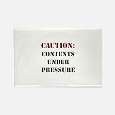 CAUTION: Contents Under Pressure Rectangle Magnet