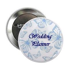 Wedding Planner Blue Butterflies Button