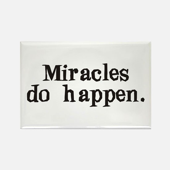 Miracles Rectangle Magnet