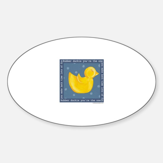 Rubber Duckie Oval Decal