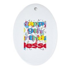 Jesse's 9th Birthday Oval Ornament