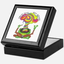 Drop Acid Not Bombs Keepsake Box
