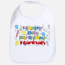 Hannah's 8th Birthday Bib