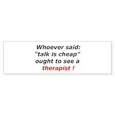Therapist Bumper Bumper Sticker