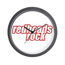 Redheads Rock Wall Clock