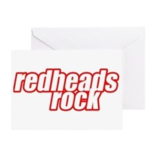Redheads Rock Greeting Card