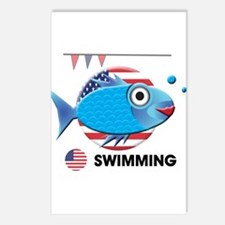 swimming Postcards (Package of 8)