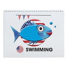 swimming Wall Calendar