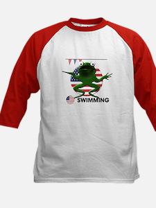 swimmer Kids Baseball Jersey