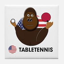 table tennis Tile Coaster