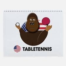 table tennis Wall Calendar