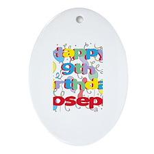 Joseph's 9th Birthday Oval Ornament