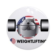 weightlifting Ornament (Round)