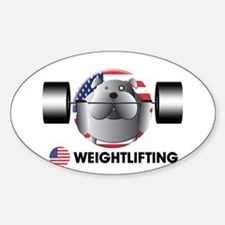 weightlifting Oval Decal