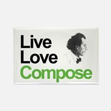 Mahler's Live Love Compose Rectangle Magnet