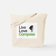 Mahler's Live Love Compose Tote Bag
