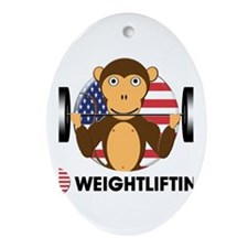 weightlifting Oval Ornament