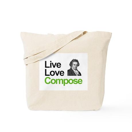 Ludwig's Live Love Compose Tote Bag
