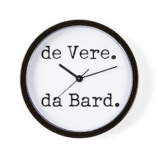 de Vere da Bard Wall Clock