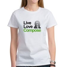 Bach's Live Love Compose Tee