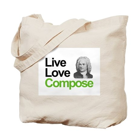 Bach's Live Love Compose Tote Bag